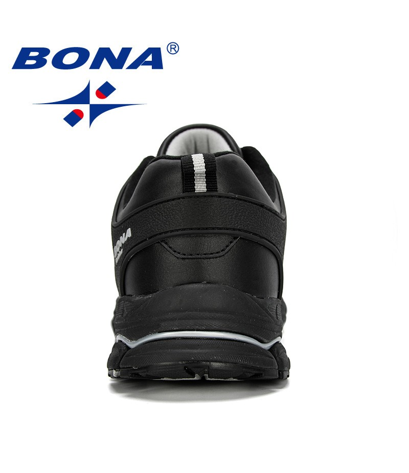BONA 2019 New Designer Men Running Shoes Breathable Adult Male Sneakers Shoes Trends Comfortable Sport Shoes Outdoor Jogging
