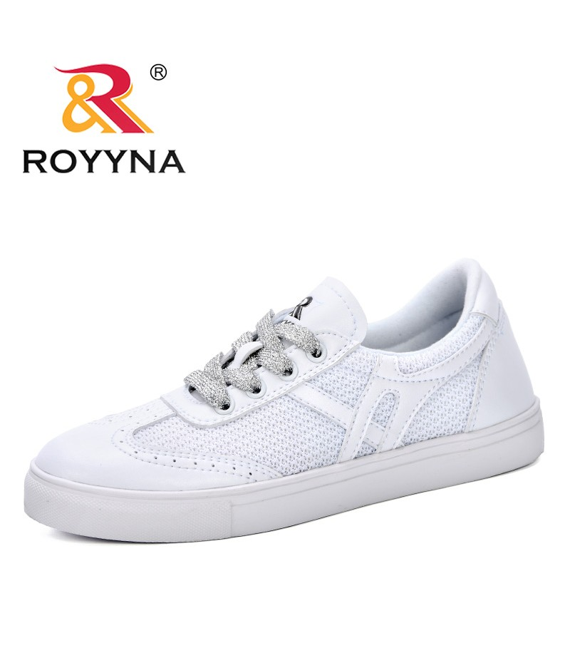 fc6c6cf548f0 ROYYNA 2019 Casual Student Shoes Girls Women Sneakers Shoes Flat With  Lace-Up Trendy Shoes
