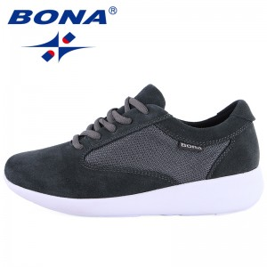 BONA New Popular Style Women Walking Shoes Lace Up EVA Outsole Outdoor Jogging Sneakers Comfortable Soft Sport Shoes for Women