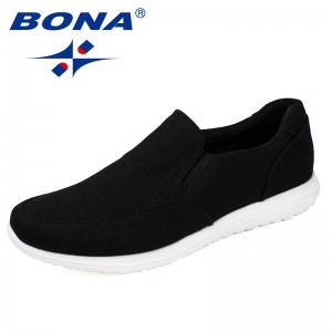 BONA Chinese Shoes manufacture  Men Canvas Shoes With Elastic Band Men Footwear EVA Outsole Comfortable Shoes Light Fast Free Shipping