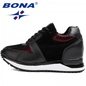 BONA New Hot Style Women Walking Shoes Height Increasing Sport Shoes Outdoor Jogging Sneakers Comfortable Athletic Shoes Retail