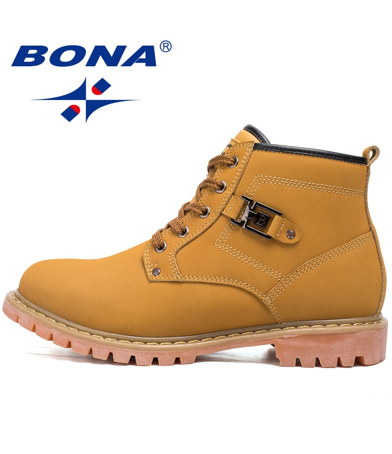 BONA New Classics Style Men Hiking Shoes Outdoor Walking Working Shoes Ankle Boots Comfortable Lace Up Sport Shoes Free Shipping
