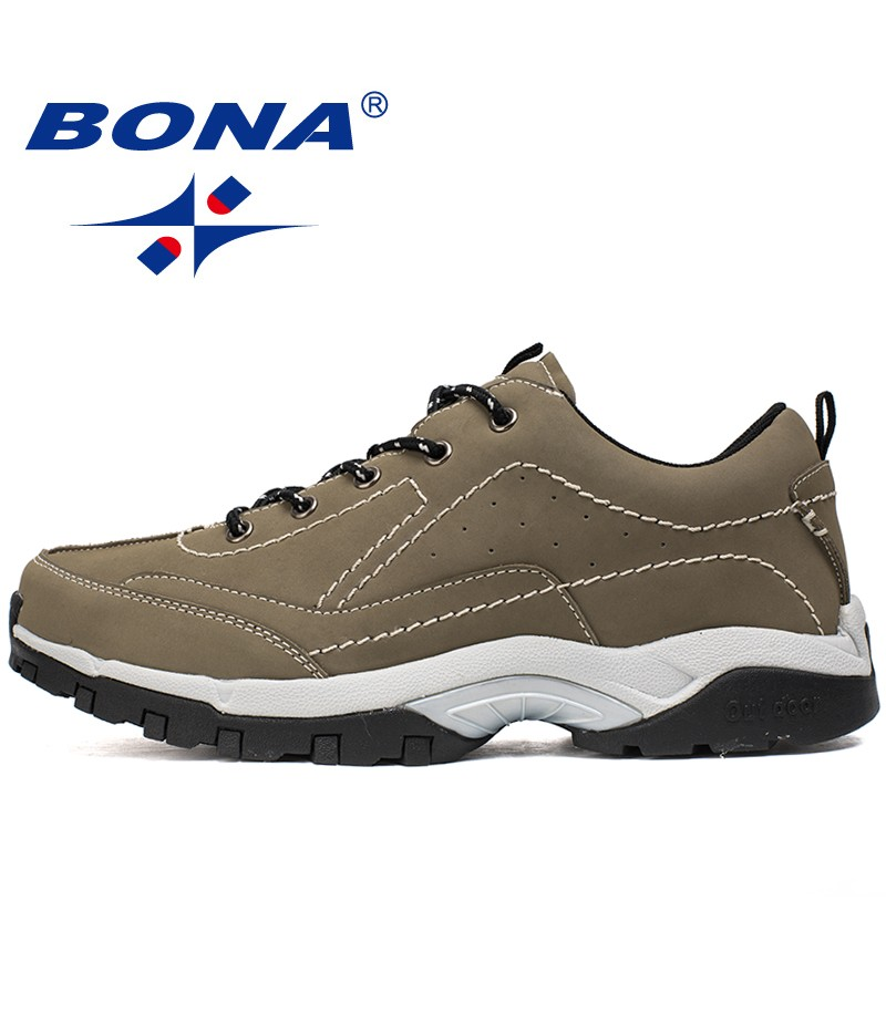 BONA New Basic Style Men Hiking Shoes Outdoor Anti-Skid Walking Sneakers For Climbing Men Trekking Shoes Soft Fast Free Shipping