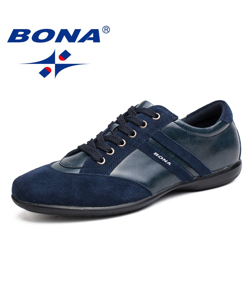 BONA New Fashion Style Men Casual Shoes Microfiber Round Toe Men Shoes Comfortable Hand Made Chaussure Homme Loafers For Men
