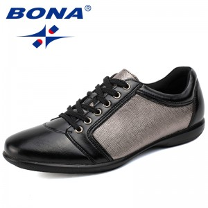 BONA 2017 New Style Men Casual Shoes Lace Up Men Flats Top quality Men Shoes Basic Designer Men Walking Shoes Free Shipping