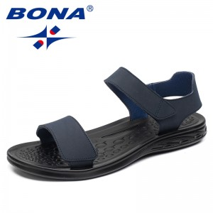 BONA New Arrival Classics Style Men Sandals Hook & Loop Men Summer Shoes Comfortable Light Soft Men Beach Slippers Free Shipping