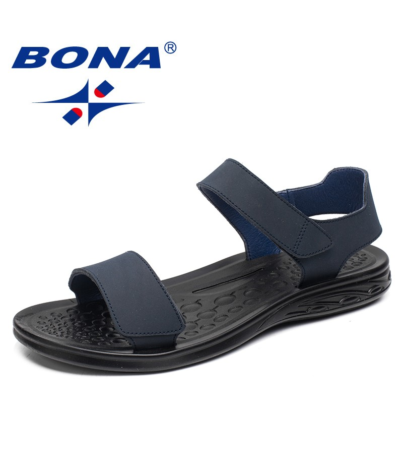 BONA New Arrival Classics Style Men Sandals Hook & Loop Men Summer Shoes Comfortable Light Soft Men Beach Slippers Free Shipping