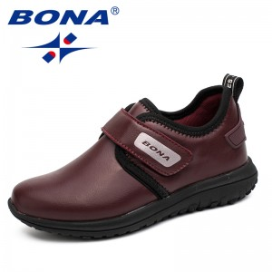 BONA New Arrival Hot Style Boys Casual Shoes Hook & Loop Children Shoes Outdoor Jogging Sneakers Comfortable Fast Free Shipping