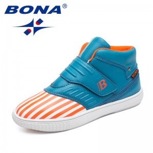 BONA New Hot Style Children Casual Shoes Hook & Loop Boys Shoes Synthetic Girls Shoes Outdoor Jogging Sneakers Free Shipping