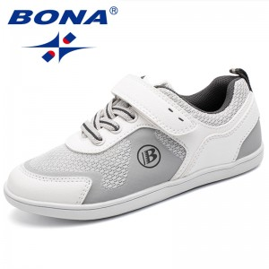 BONA New Arrival Popular Style Children Casual Shoes Hook & Loop Boys Shoes Outdoor Jogging Shoes Girls Comfortable Sport Shoes