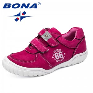 BONA New Fashion Style Children Casual Shoes Hook & Loop Boys Shoes Synthetic Girls Shoes Outdoor Kids Sneakers Free Shipping