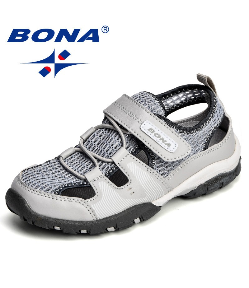 BAONA Chinese Shoes manufacture  Children Sandals Mesh Hook & Loop Boys Summer Shoes Outdoor Girls Shoes Light Free Shipping