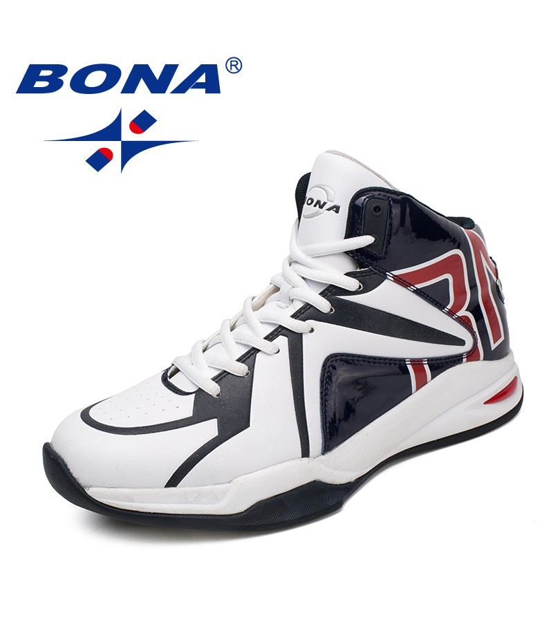 BONA New Classics Style Men Basketball Shoes Lace Up Men Sport Shoes Outdoor Sneakers Comfortable Breathable Fast Free Shipping