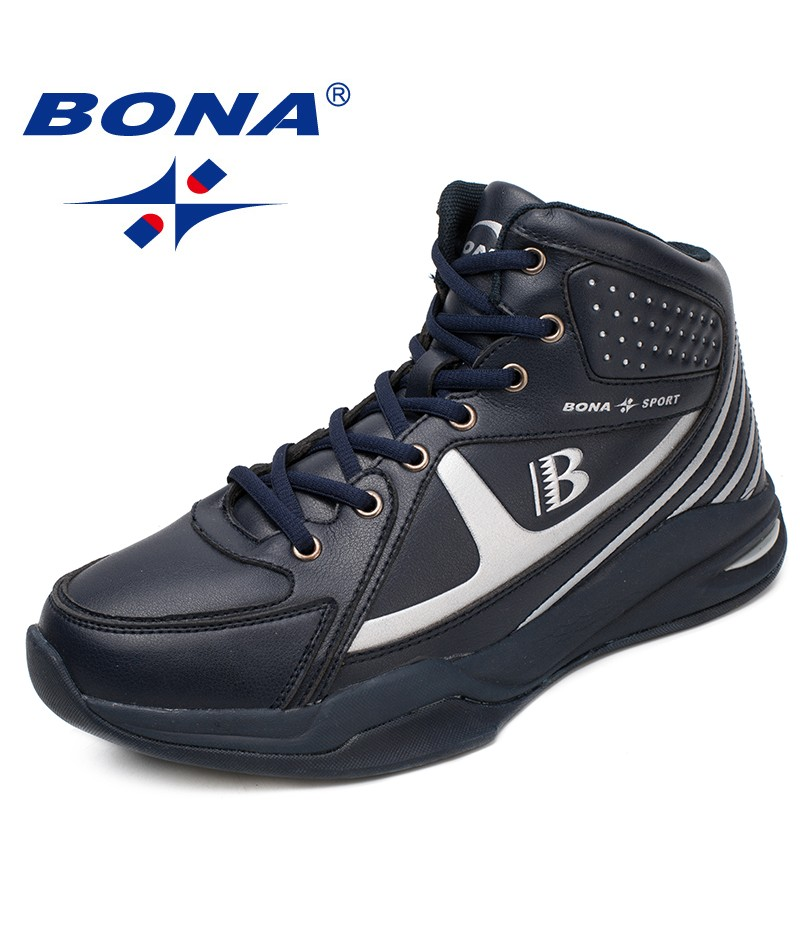 BONA New Arrival Style Men Basketball Shoes Lace Up Men Athletic Shoes Outdoor Jogging Sneakers Comfortable Fast Free Shipping