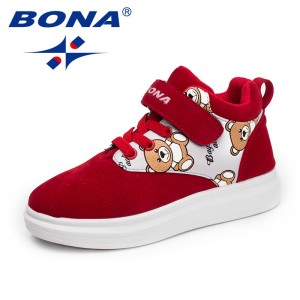 BONA New Arrival Typical Style Children Casual Shoes Hook & Loop Girls Shoes Outdoor Sneakers Comfortable Fast Free Shipping