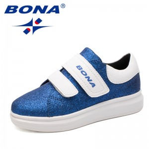 BONA New Fashion Style Girls Casual Shoes Hook & Loop Girls Shoes Outdoor Jogging Sneakers Comfortable Light Fast Free Shipping