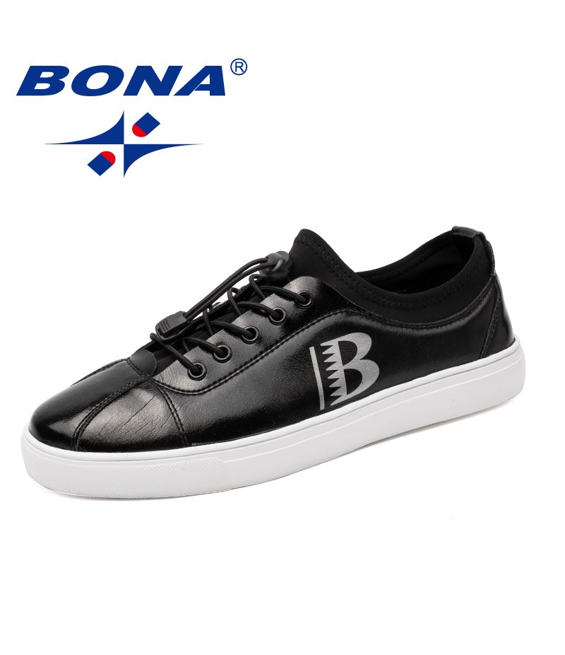 BONA New Classics Style Men Casual Shoes Lace Up Men Comfort Shoes Microfiber Male Fashion Sneakers Shoes Fast Free Shipping
