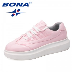 BONA New Classics Style Women Walkng Shoes Lace Up Lady Shoes Outdoor Jogging Sneakers Comfortable Women Athletic Shoes Light