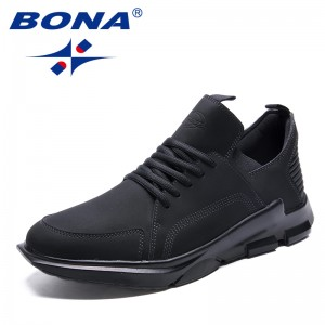 BONA  Chinese Shoes manufacture  Men Walking Shoes Lace Up Men Athletic Shoes Outdoor Jogging Sneakers Comfortable soft Free Shipping