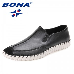 BONA New Arrival Classics Style Men Casual Shoes Elastic Band Men Loafers Microfiber Men Flats Comfortable Fast Free Shipping