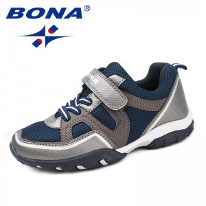 BONA New Arrival Classics Style Children Casual Shoes Hook & Loop Boys Shoes Outdoor Jogging Sneakers Light Fast Free Shipping