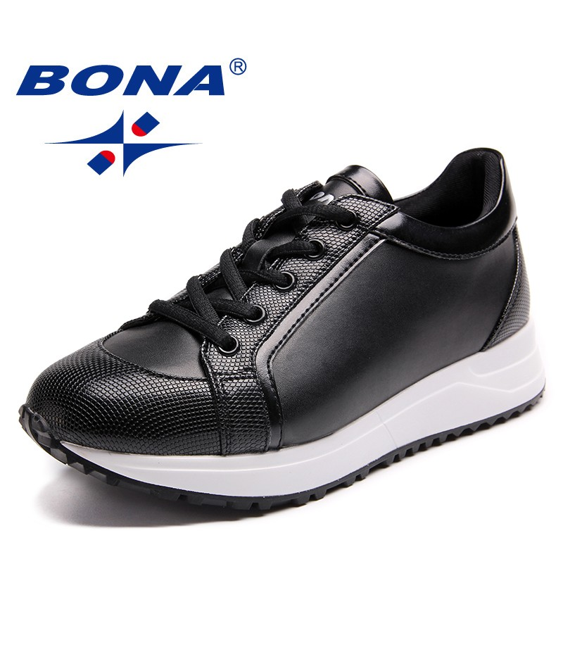 BONA New Arrival Classics Style Women Walking Shoes Lace Up Women Athletic Shoes Outdoor Jogging Sneakers Light Free Shipping