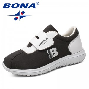 BONA New Arrival Classics Style Children Casual Shoes Hook & Loop Boys Loafers Synthetic Girls Flats Comfortable Free Shipping