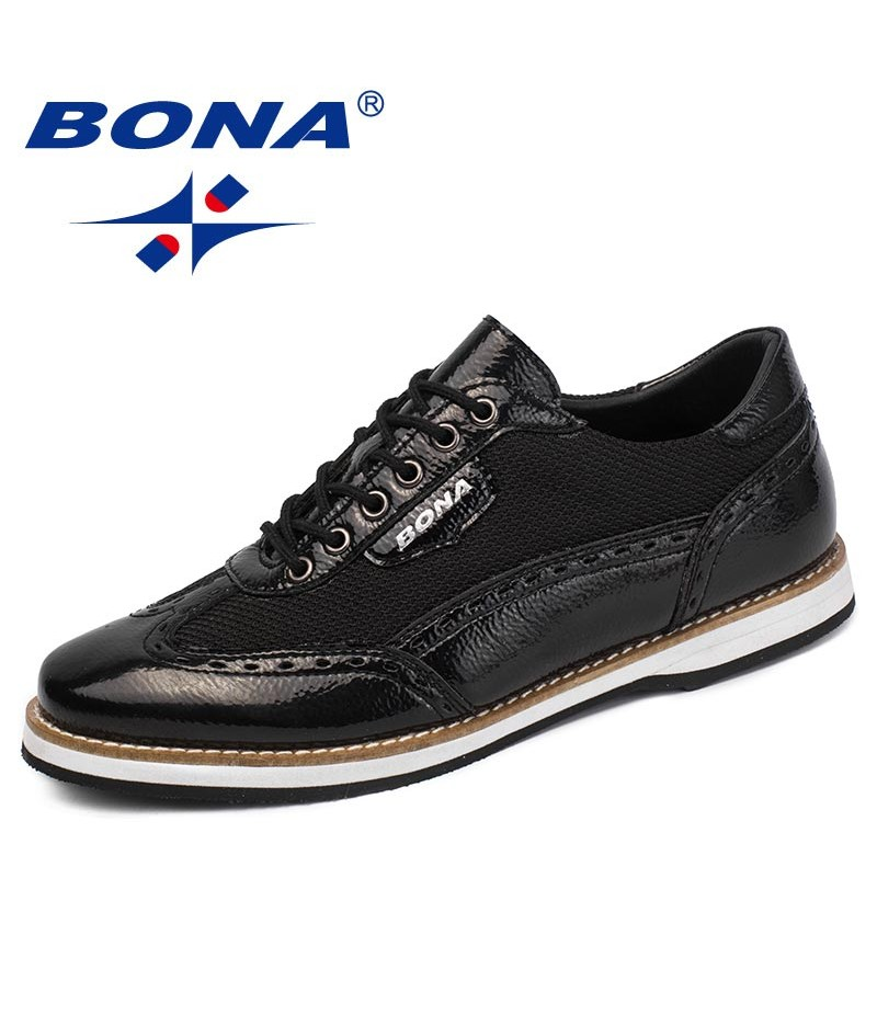 BONA New Classics Style Men Casual Shoes Lace Up Men Oxfords Shoes Microfiber Men Comfort Shoes Comfortable Fast Free Shipping