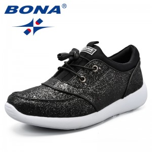 BONA New Classics Style Women Walking Shoes Lace Up Feminimo Athletic Shoes Light Soft Lady Outdoor Jogging Sneakers Shoes