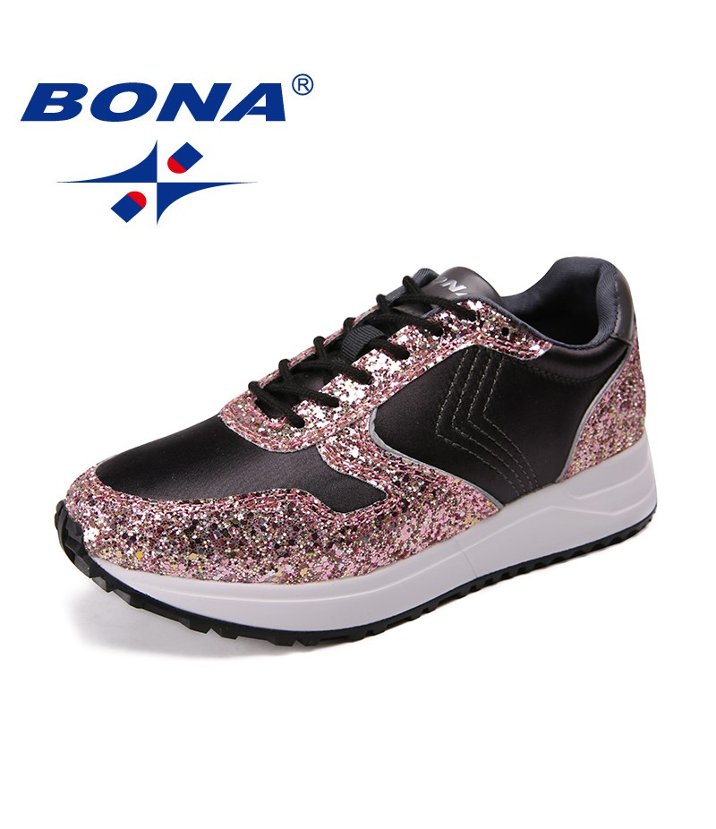 BONA New Arrival Classics Style Women Walking Shoes Lace Up Women Athletic Shoes Outdoor Jogging Shoes Synthetic Sneakers Shoes