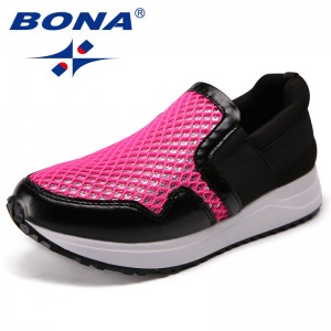 BONA New Fashion Style Women Loafers Elastic Band Women Casual Shoes Outdoor Sneakers Shoes Microfiber Women Flats Free Shipping