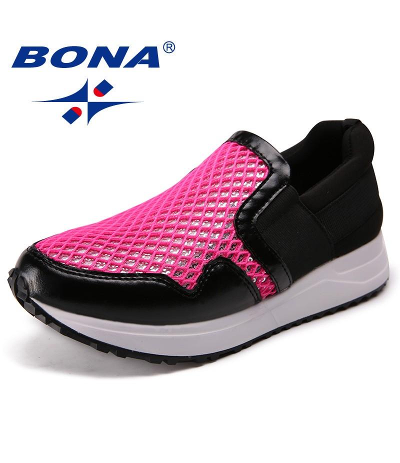 BONA New Fashion Style Women Loafers Elastic Band Women Casual Shoes Outdoor Sneakers Shoes Microfiber Women Flats Free Shipping