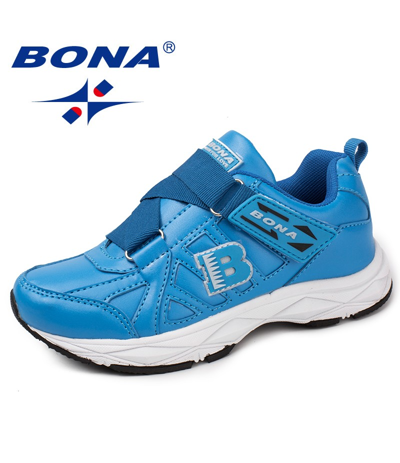 BONA New Classics Style Children Casual Shoes Synthetic Girls Flats Hook & Loop Boys Loafers Outdoor Fashion Sneakers