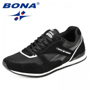 BONA 2018 New Breathable Men and Women Sneakers Unisex Outdoor Sports Running Shoes Gym Hard-Wearing Femme Athletic Shoes