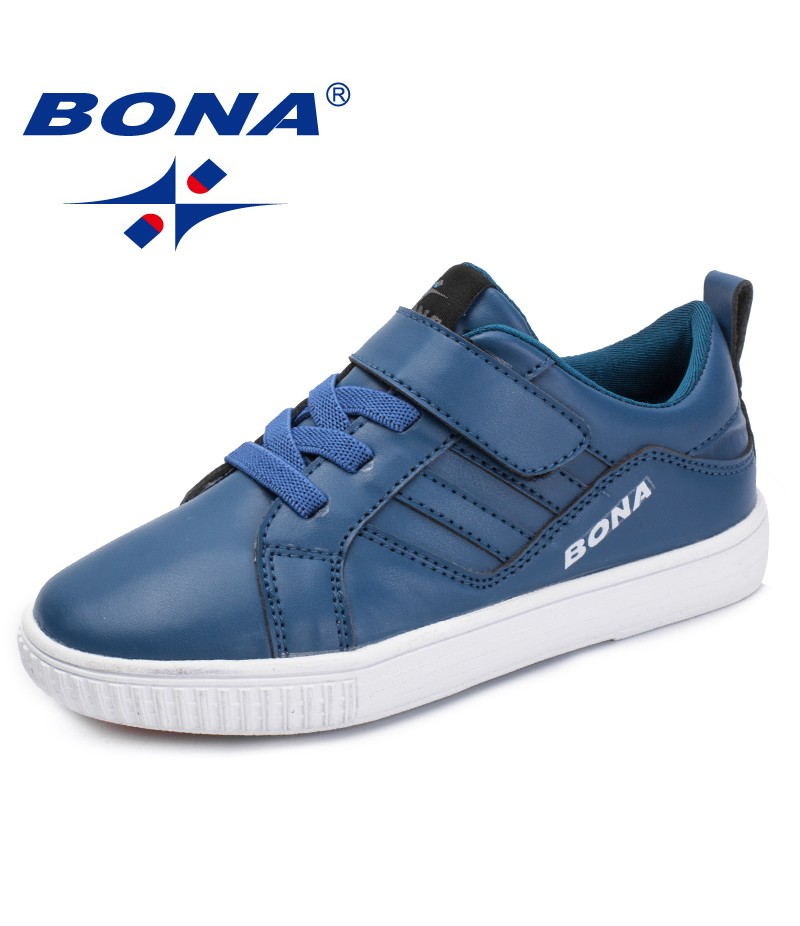 BONA New Fashion Style Children Casual Shoes Synthetic Girls Flats Hook & Loop Boys Loafers Outdoor Sneakers Shoes Free Shipping