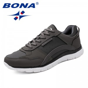 BONA  Chinese Shoes manufacture  Men Walking Shoes Lace Up Men Athletic Shoes Outdoor Jogging Sneakers Comfortable Free Shipping