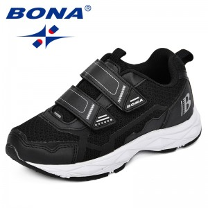BONA 2018 New Children Casual Shoes Boys Sneakers Girls Sport Shoes Child Leisure Trainers Breathable Shoes Kids Running Shoes
