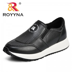 ROYYNA Comfortable Women Sneakers Spring & Autumn Shoes Microfiber Slip-On Comfy Outdoor Female Casual Shoes Zapatillas Mujer