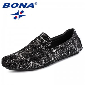 BONA New Arrival Classics Style Men Casual Shoes Slip On Male Boat Shoes Flock Men Loafers Light Soft Young Men Comfort Shoes