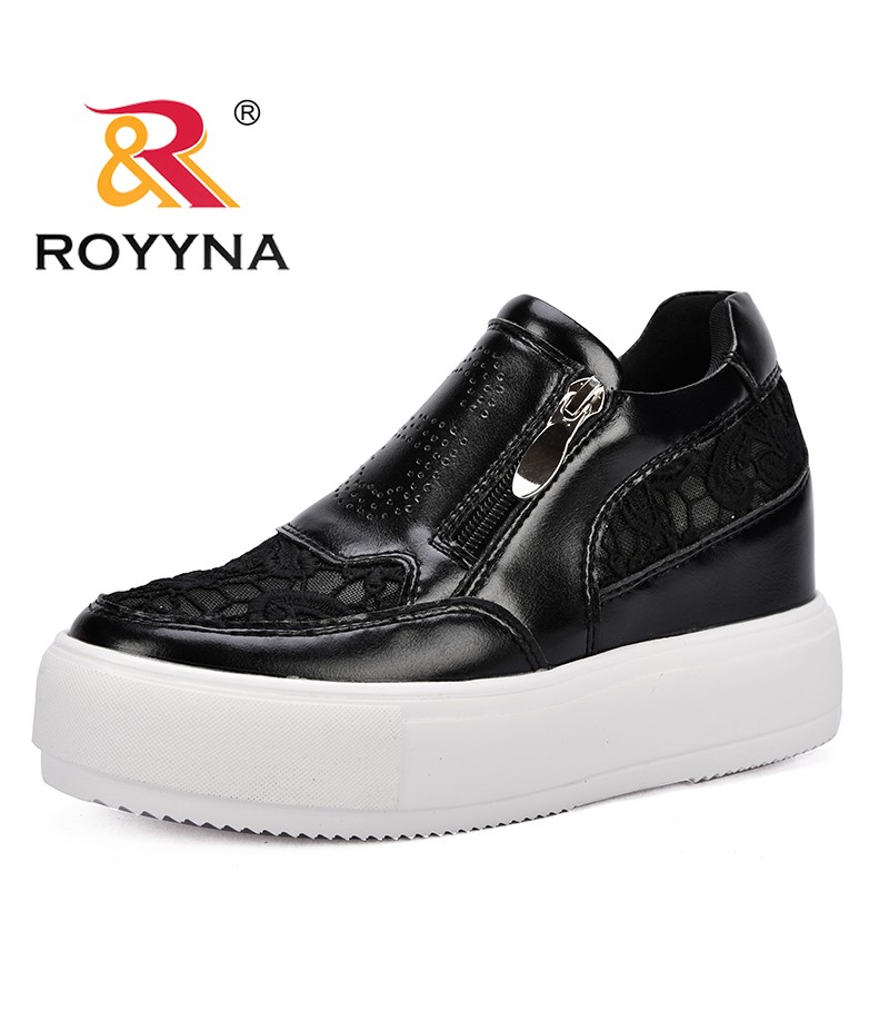 ROYYNA New Arrival Fashion Style Women Sneakers Shoes Zipper Platform Female Casual Shoes Microfiber Lady Flats Free Shipping