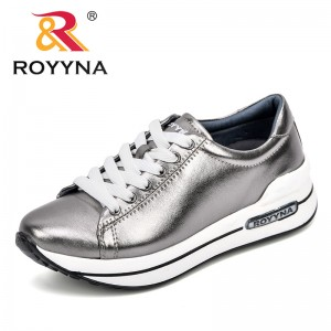 ROYYNA 2018 Fashion Women Vulcanized Shoes Autumn Sneakers Ladies Lace-Up Casual Shoes Breathable Walking Shoes Women Flats
