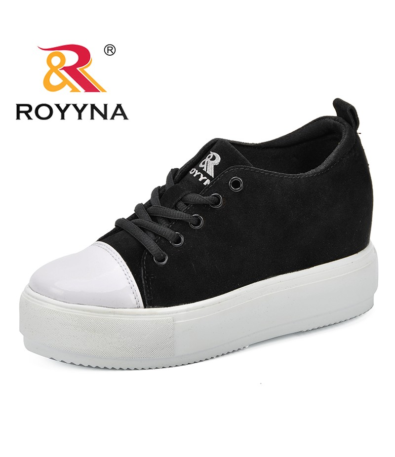 ROYYNA Women Sneakers 2018 Fashion Breathble Vulcanized Shoes Women Flock Platform Shoes Women Lace Up Casual Shoes Comfortable