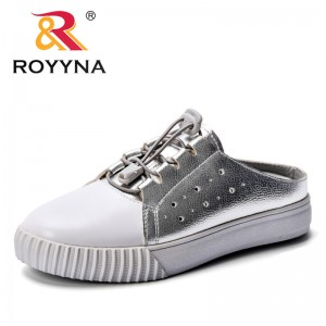 ROYYNA 2018 Autumn Women Shoes Fashion Solid Color Women Vulcanized Shoes Synthetic Lace-up Casual Shoes Woman Sneakers Lady
