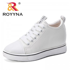 ROYYNA New Designer 2019 Shoes Women Flats Lace-Up Casual Shoes Women Breathable Increasing Height Platform Tenis Feminino Comfy