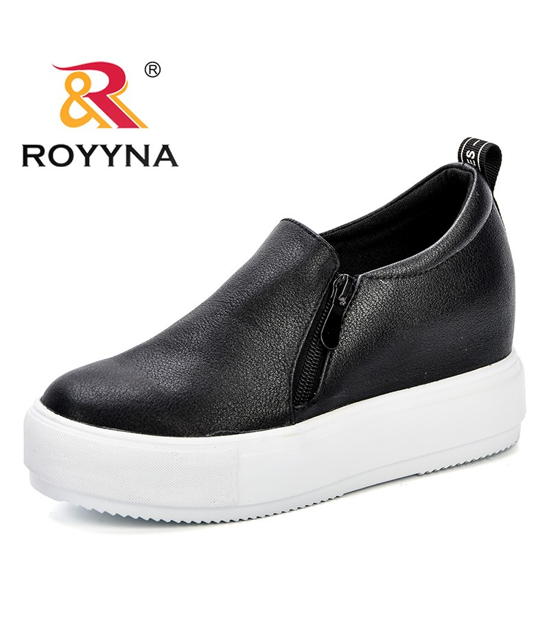 ROYYNA Fashion Casual Women's Vulcanize Shoes Lace Up Ladies Shoe Female Leisure Flat Footwear Increasing Height Comfy Sneakers
