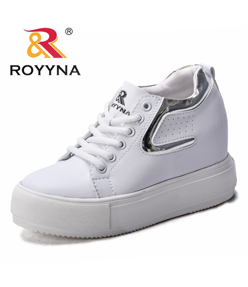 ROYYNA New Arrival Popular Style Women Casual Shoes Flat Platform Female Sneakers Shoes Microfiber Lady Flats Fast Free Shipping 尺