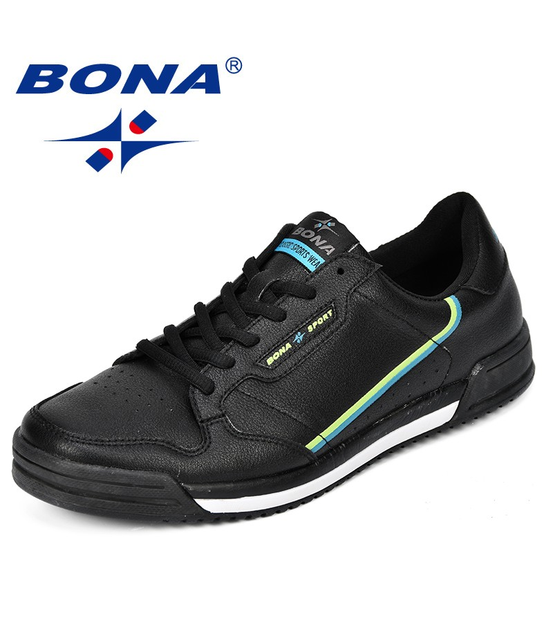 BONA Fashion Men Flats Shoes Autumn Breathable Men's Casual Shoes Trend Lightweight Leisure Shoes Comfortable Sneakers Shoes