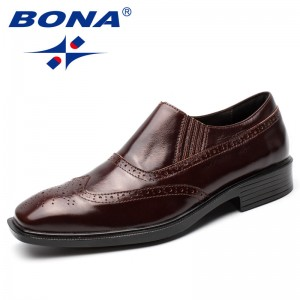 BONA New Arrival Classics Style Men Formal Shoes Slip-On Men Office Shoes Geniune Leather Male Dress Shoes Comfortable light
