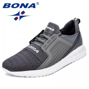 BONA New Arrival Popular Style Men Sneakers Mesh Lace Up Men Casual Shoes Outdoor Comfortable Men Leisure Shoes Free Shipping