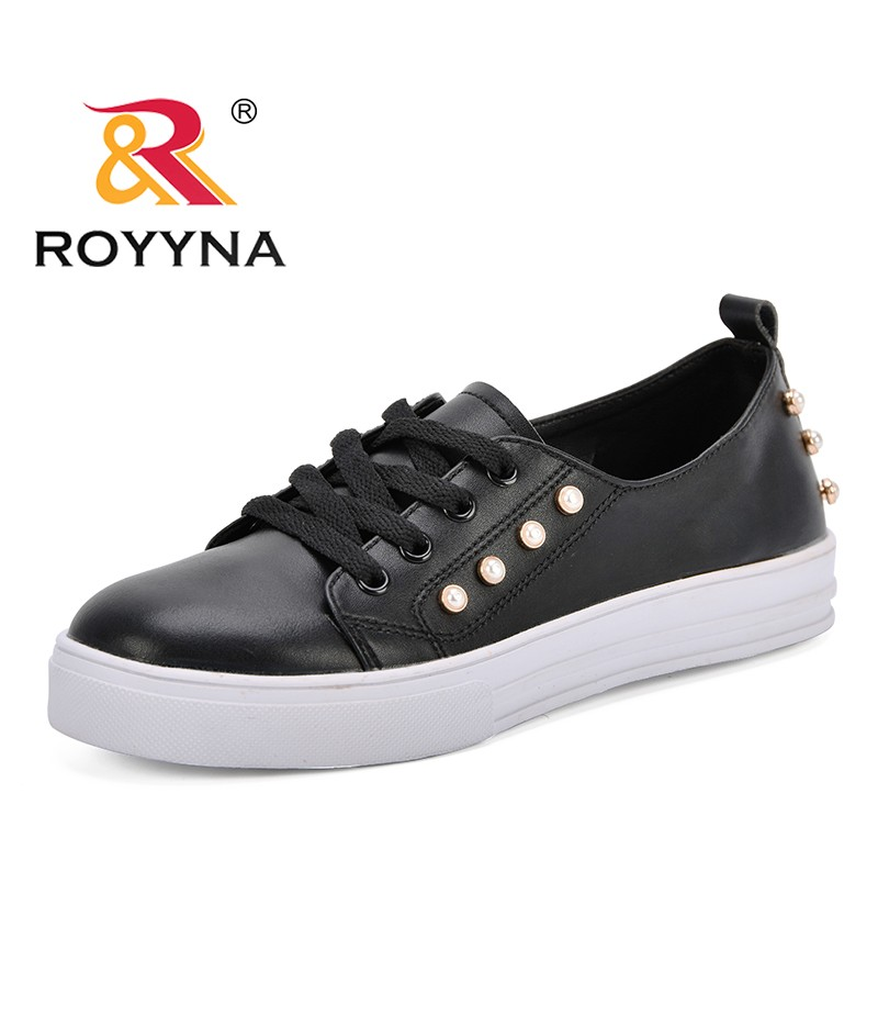 ROYYNA New Fashion Style Women Sneakers Shoes Crystal Platform Feminimo Casual Shoes Microfiber Lady Flats Shoes Free Shipping